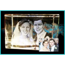 2 Head 3D Laser Engraved Crystal 50x50x80