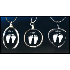 AAG  Generic Footprint Crystal Pendants