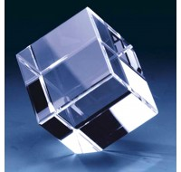 Cube Crystal 50x50x50  Cut Corner  2D-3D 1Head