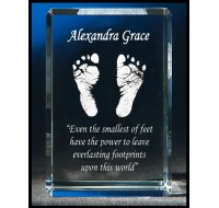 AAG Personalised Footprint Crystal 60x60x90mm
