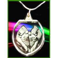 Heart Shaped Pendant - 16 Inch silver chain.