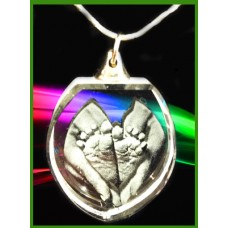 Heart Shaped Pendant - 22 Inch silver chain.