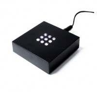 Black light base square with white LED's 70x70x20mm